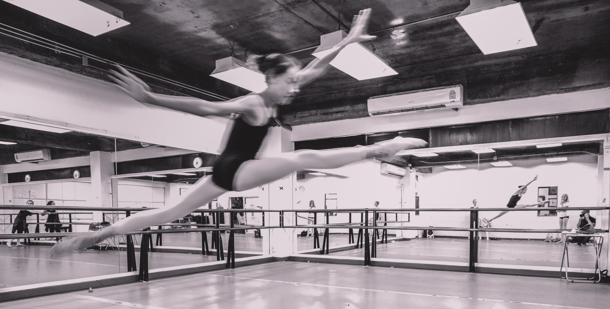 Dancer leaps