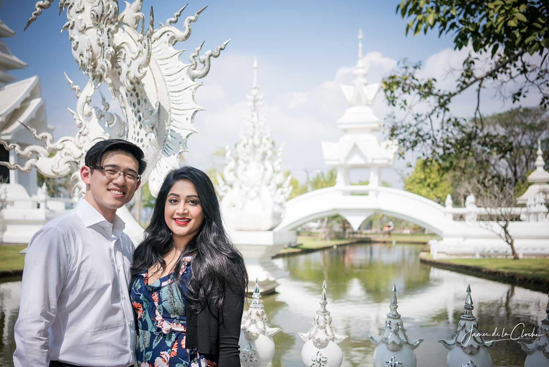 prewedding at white temple chiang rai