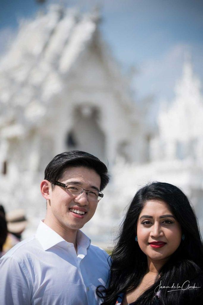 engagement shoot white temple