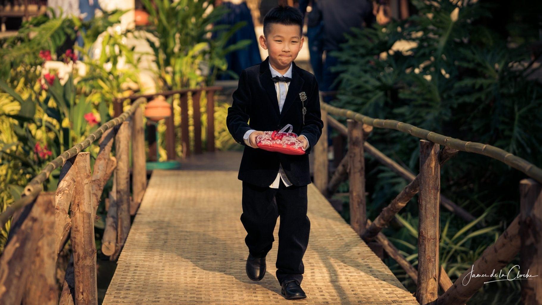 Cute Kid Carries The Rings
