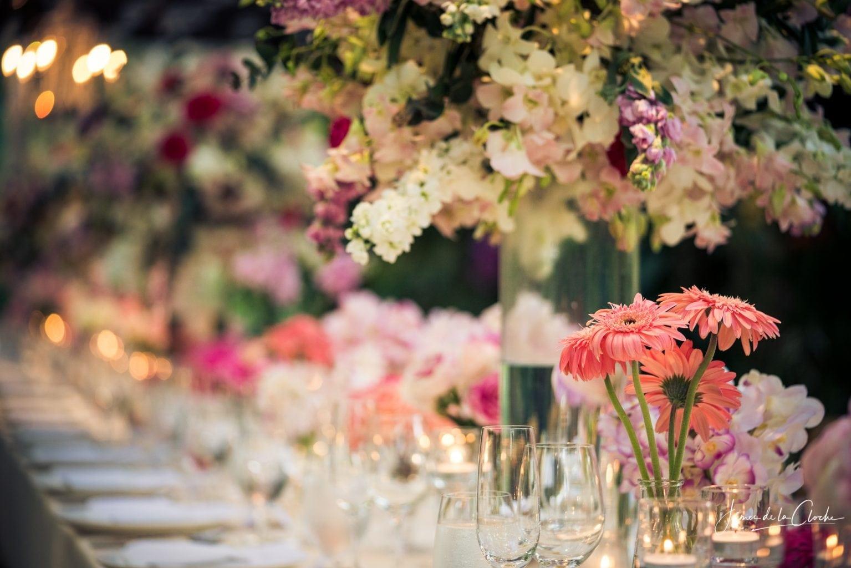 Beautiful Wedding Table Four Seasons Chiang Mai