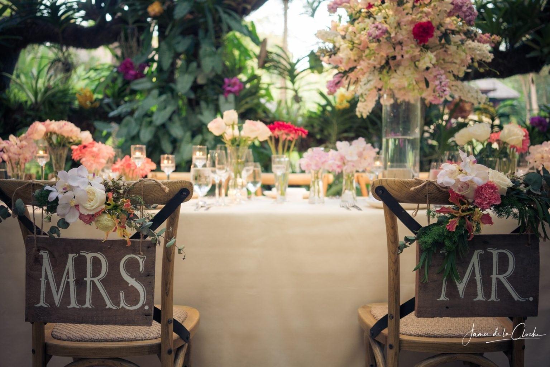 Mr & Mrs Chair Decoration