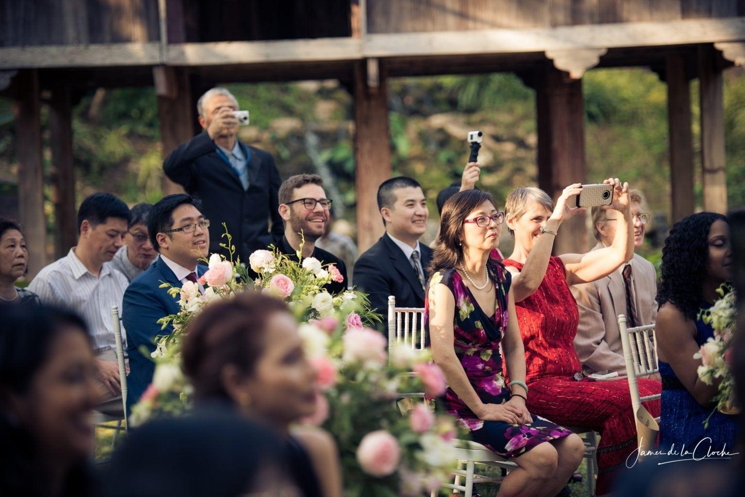 Wedding Guests Look On