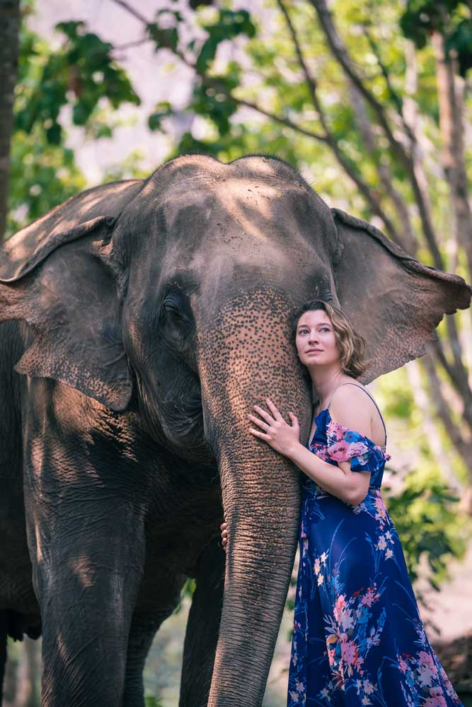 Portraits with elephants
